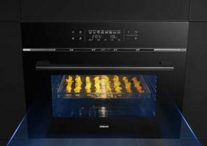 老板CQ980A烤煎炸一体机怎么样?家用嵌入式煎烤空气炸锅三合一